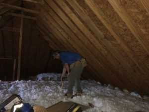 Pre-Listing Inspection Murfreesboro Checking Insulation Depth